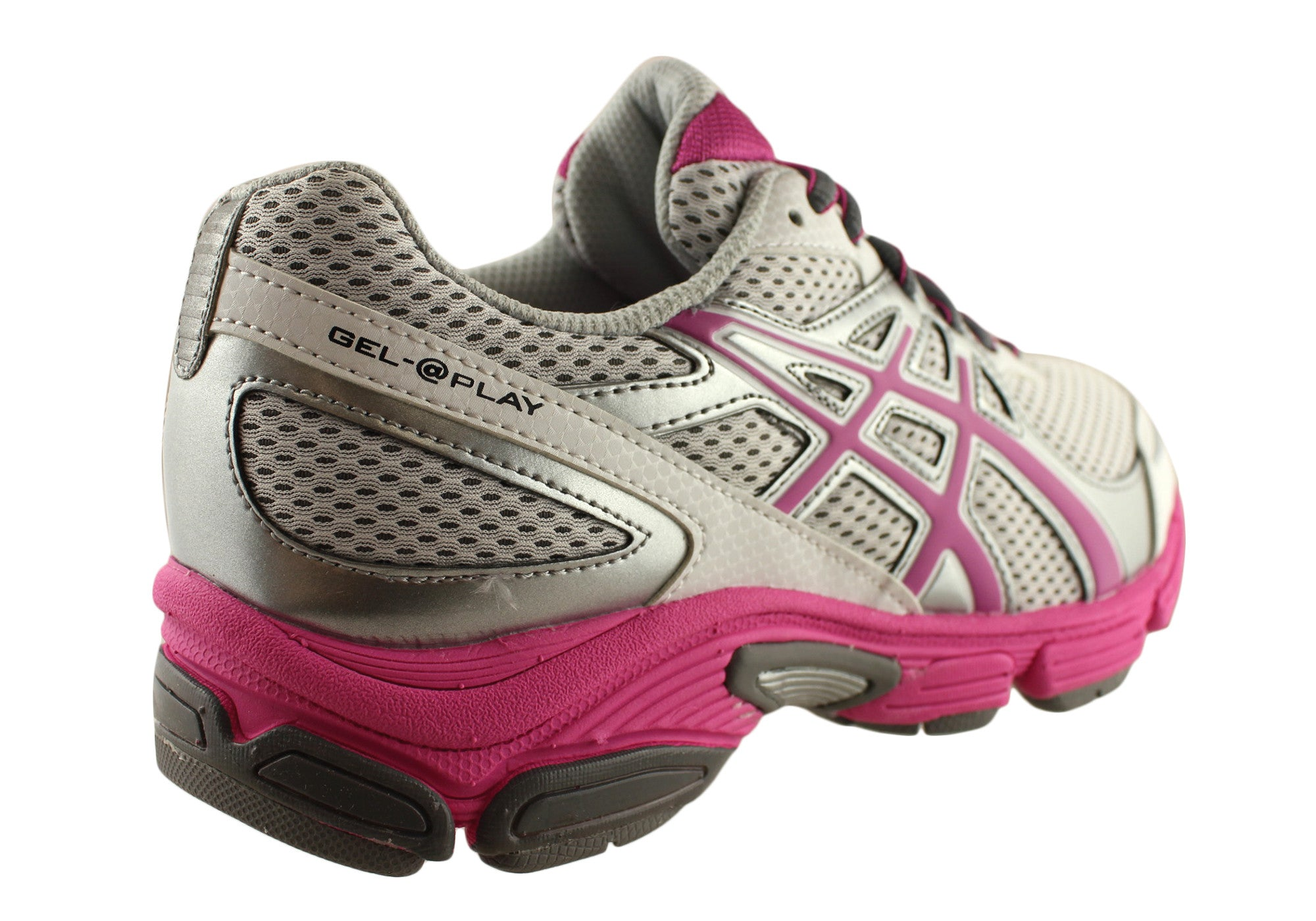 Asics Gel Play Kids Older Girls Sport Shoes Sneakers