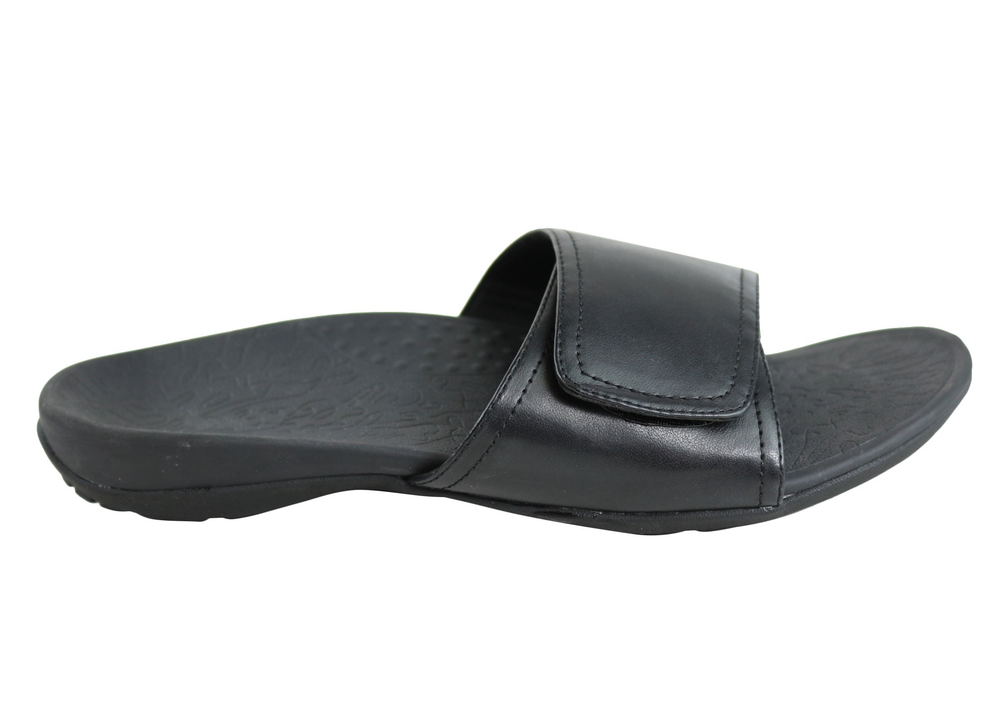 2d490a963b13 Home Axign Slide Mens Comfortable Supportive Orthotic Sandals. Black ...