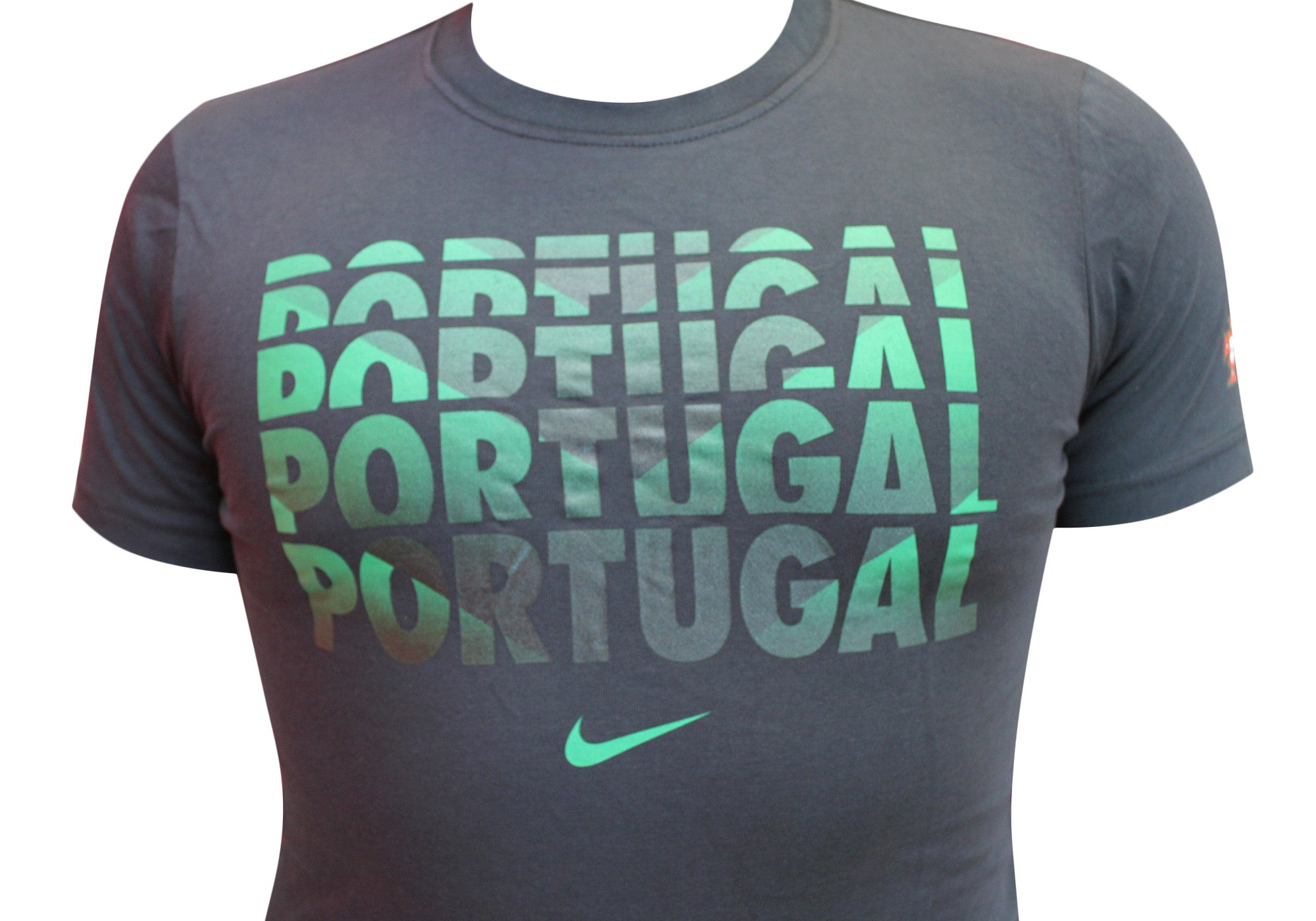 Nike Mens Portugal Black Cotton T-Shirt