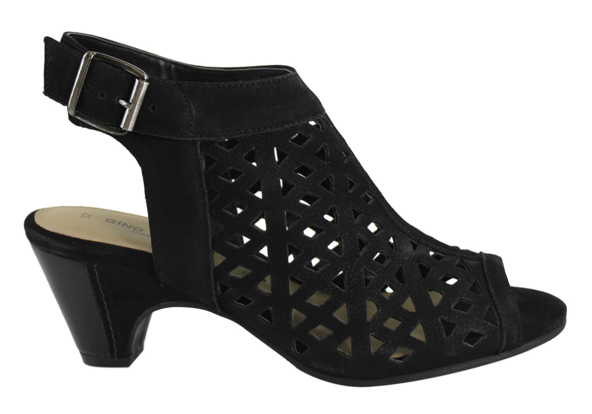 c87edeae4e1 Gino Ventori Fever Womens Leather Mid Heel Sandals Made In Brazil ...
