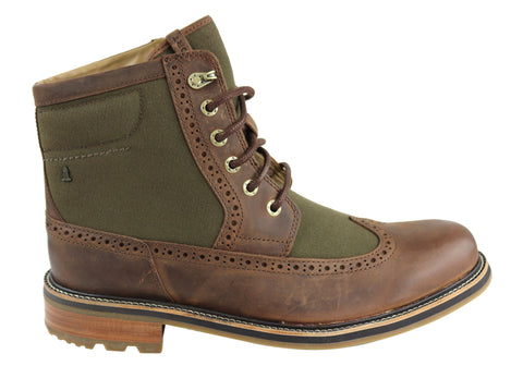 Rockport Mens BT Too Wing Boots Lace Up Wide Fit Leather Boots