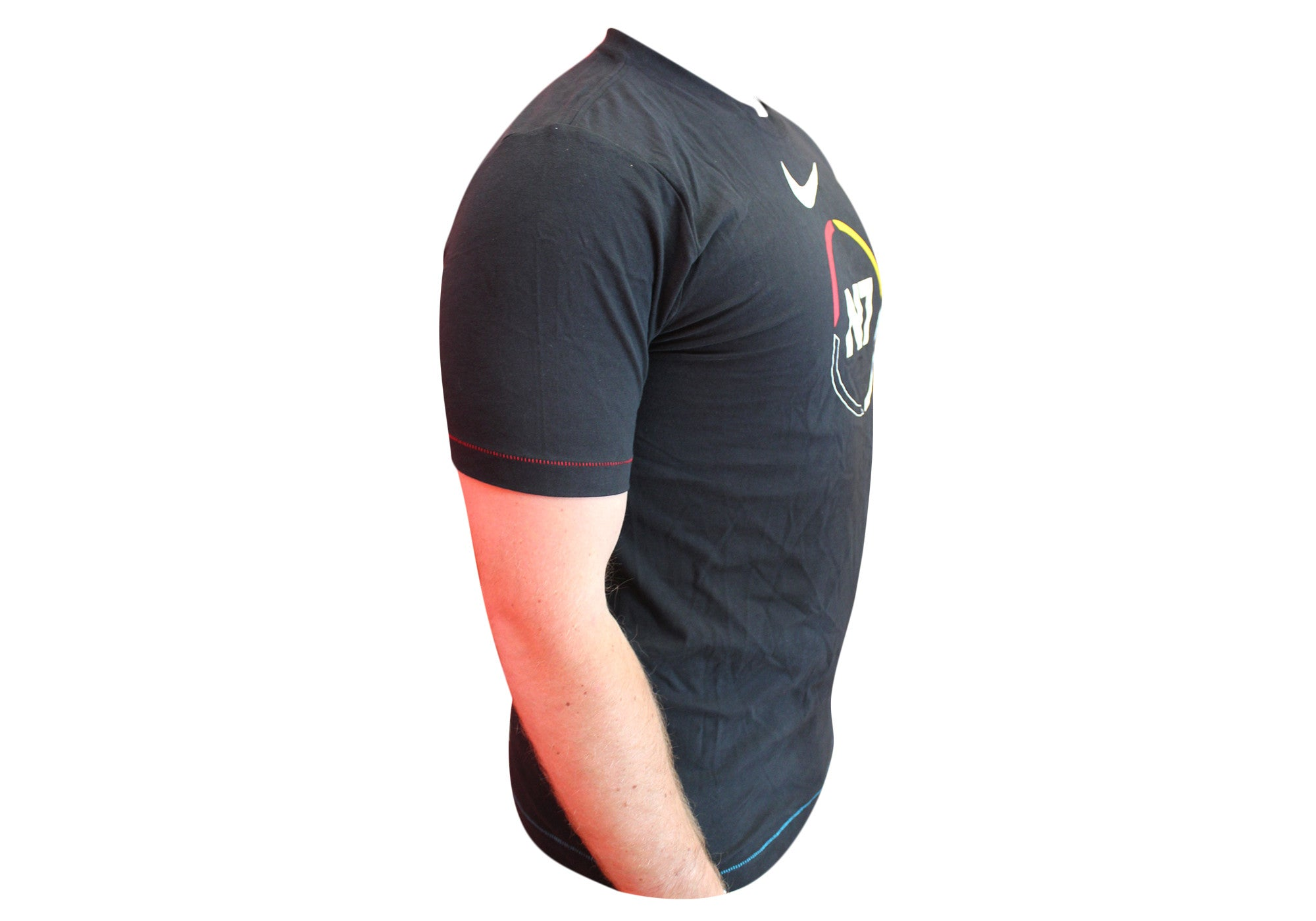 Nike Mens N7 Black Cotton T-Shirt