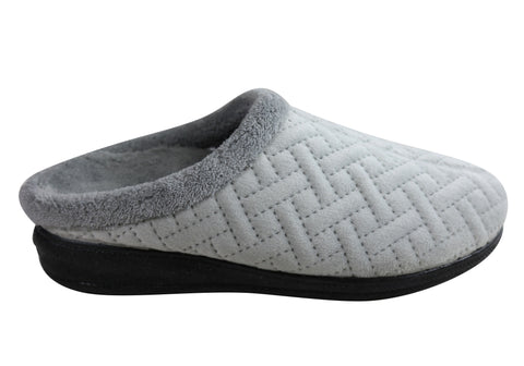 Scholl Orthaheel Dandy Womens Comfortable Open Back Indoor Slippers