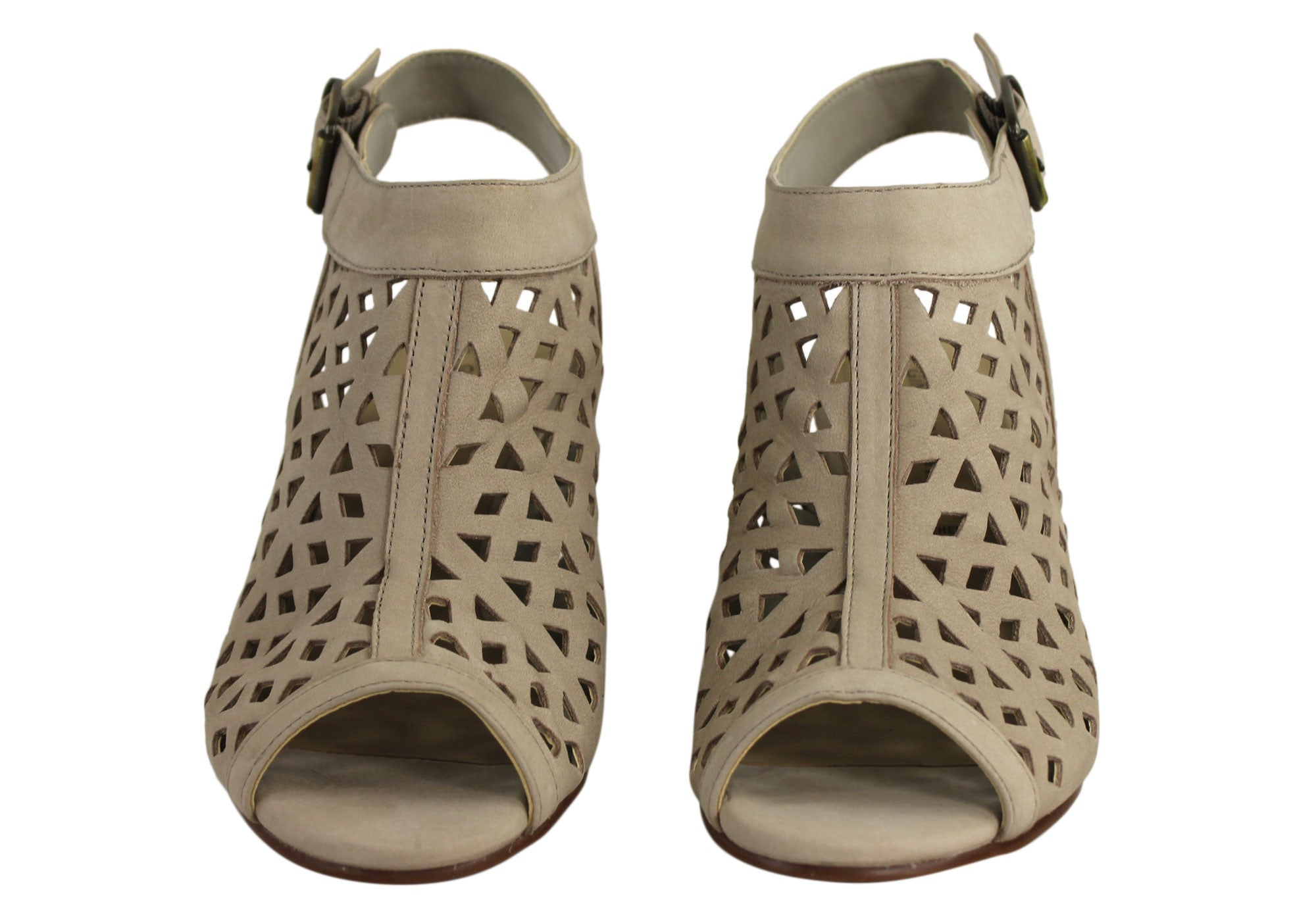 Gino Ventori Fever Womens Mid Heel Sandals Made In Brazil
