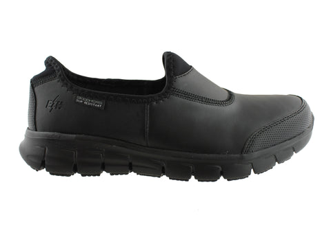 Skechers Womens Sure Track Slip Resistant Comfort Leather Work Shoes