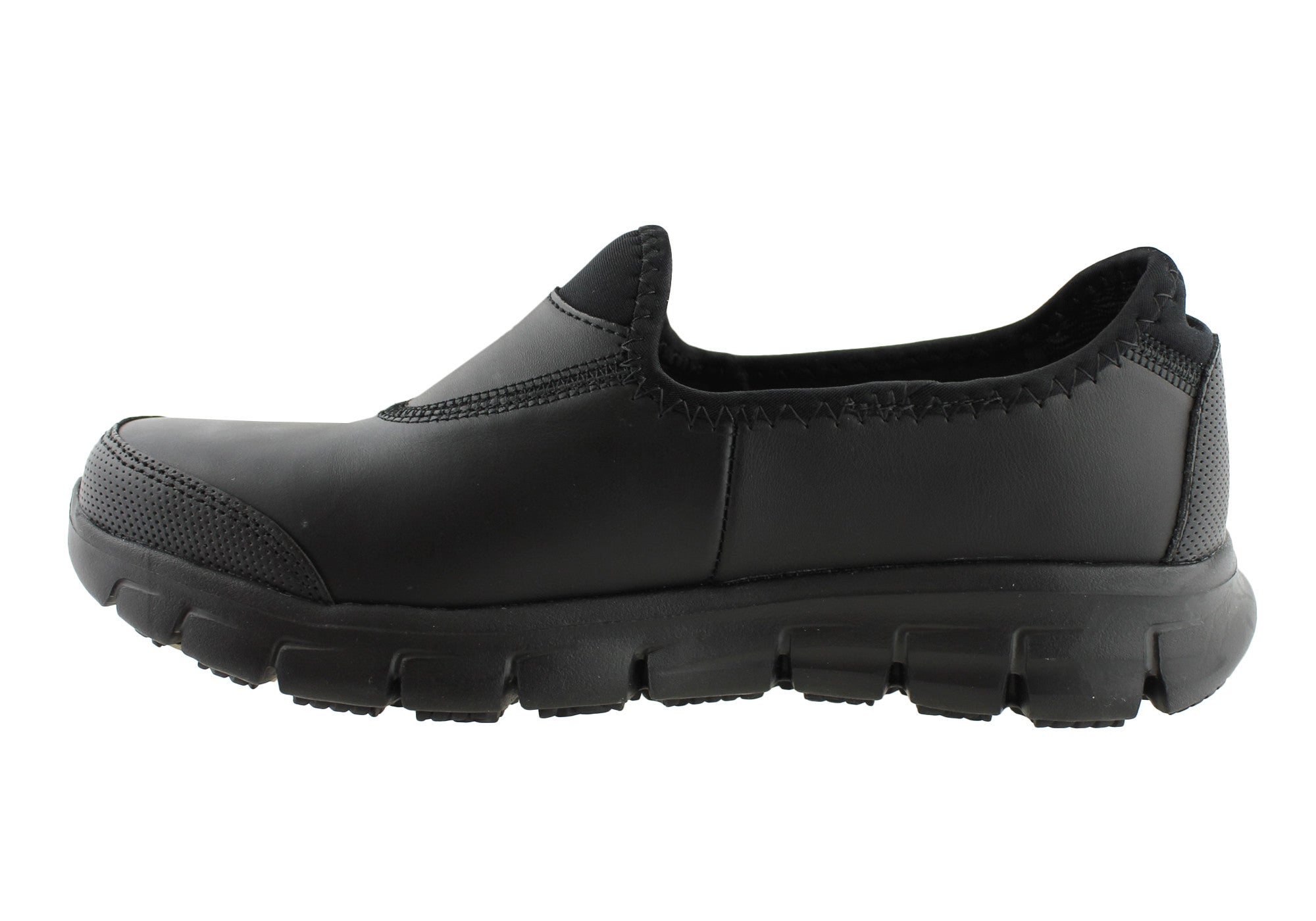 Black Slip Resistant Work Shoes For Women Under