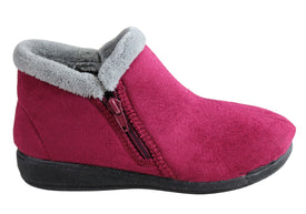 Scholl Orthaheel Dahlia Womens Comfort Supportive Boot Indoor Slippers