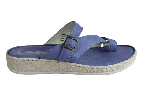 Florance 39000 Womens Leather Comfort Thongs Sandals Made in Italy