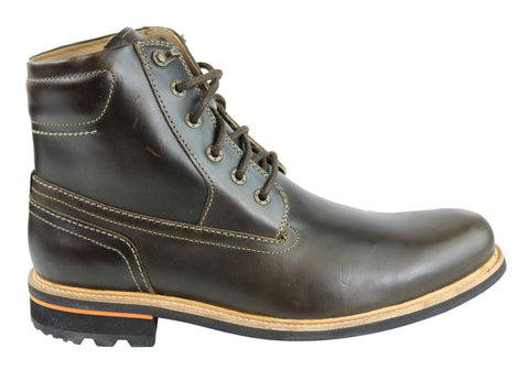 Rockport Mens BT Too PT Boots Lace Up Wide Fit Comfort Leather Boots