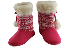 Grosby Eskimo Indoor Kids Girls Hoodie Boot Slippers