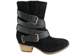 Rmk Won Ladies Fashion Ankle Suede Leather Boots
