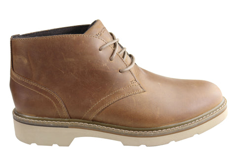 Rockport Mens Charlee Chukka Comfortable Wide Fit Leather Boots