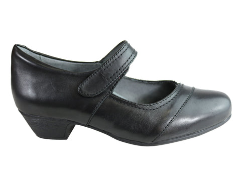 Homyped Penny Womens Comfort Leather Wide Fit Low Heel Mary Jane Shoes