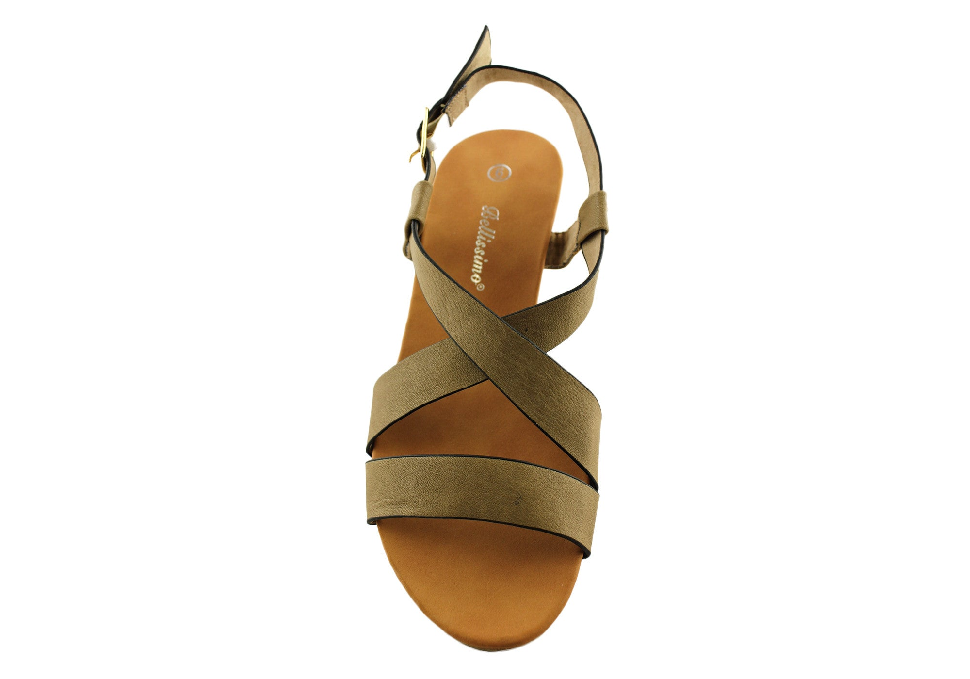 Bellissimo Sorrento Womens Low Wedge Sandals