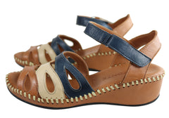 Orizonte Caitline Womens European Soft Leather Comfortable Sandals