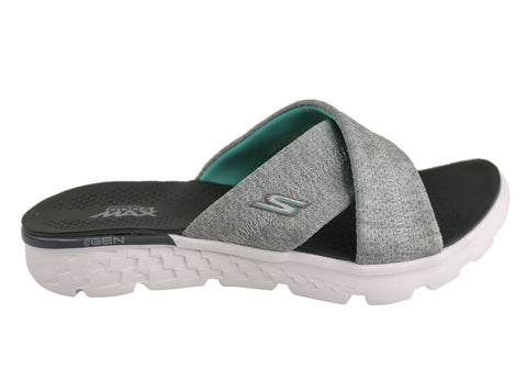 Skechers On The Go 400 Blissful Womens Comfortable Flat Slide Sandals