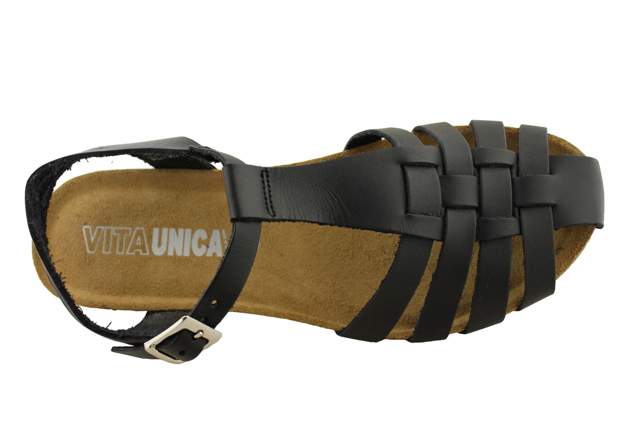 Vita Unica Womens Leather Fisherman Sandals Made In Spain