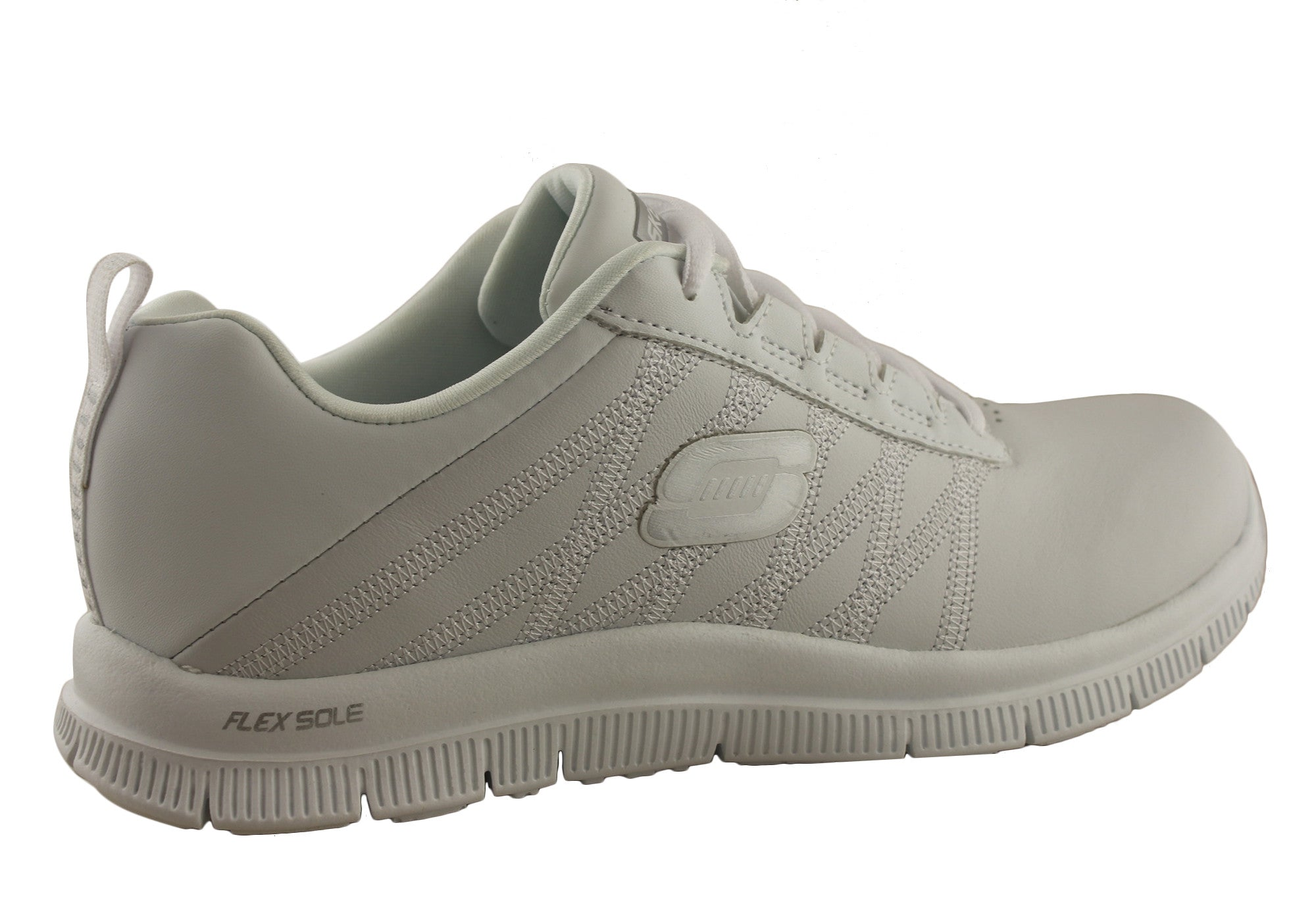 Skechers Flex Appeal Pure Tone Womens Leather Sneakers