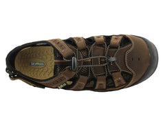 Slatters Venom Mens Comfortable Leather Sandals