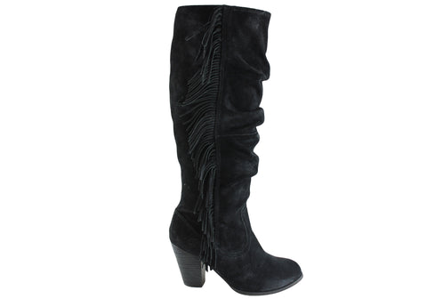 RMK Dally Womens Fashion Knee Hi Suede Boots