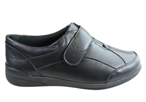 Homyped Chelsea Womens Leather Comfort Extra Wide Fit Adjustable Shoes