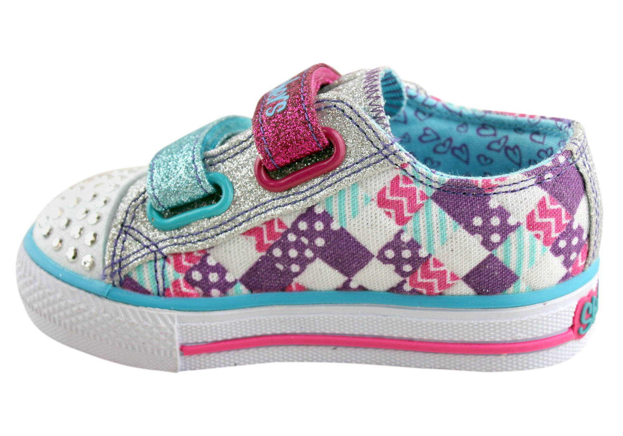 Skechers Toddler/Girls S Lights Shuffles Patchwork Gal