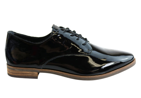 Gino Ventori Hutton Womens Patent Leather Lace Up Shoes