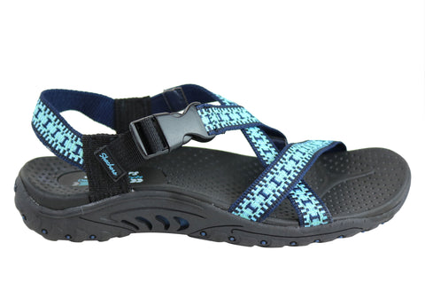 Skechers Womens Reggae Kooky Comfortable Flat Sandals