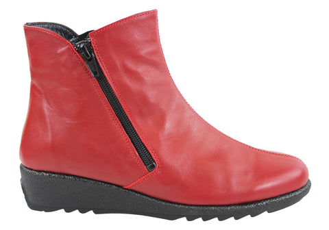 Aerobics Love Womens Leather Boots Made In Portugal