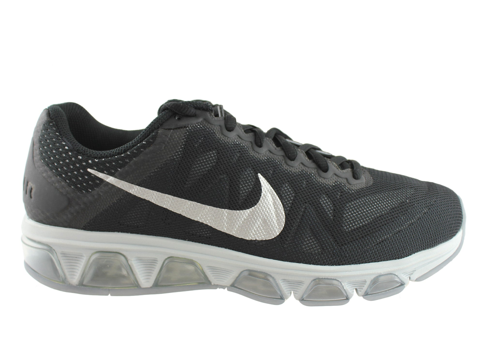 the latest 9376c f98ba Home Nike Air Max Tailwind 7 Mens Air Cushioned Running Shoes. Black Silver  ...