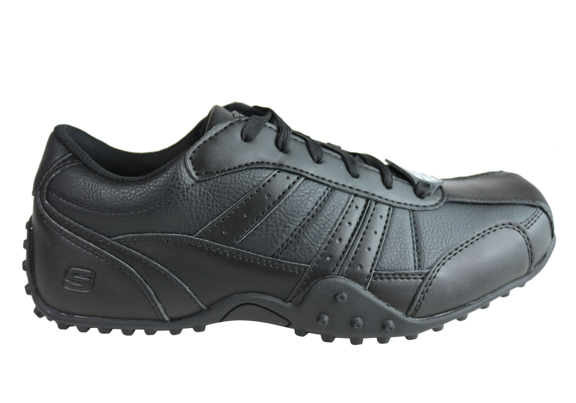newest 15a66 5729d Home Skechers Mens Relaxed Fit Elston Lace Up Slip Resistant Memory Foam Work  Shoes. Sale ends in 13 days, 13 hours, 56 minutes, 23 seconds. Black ...