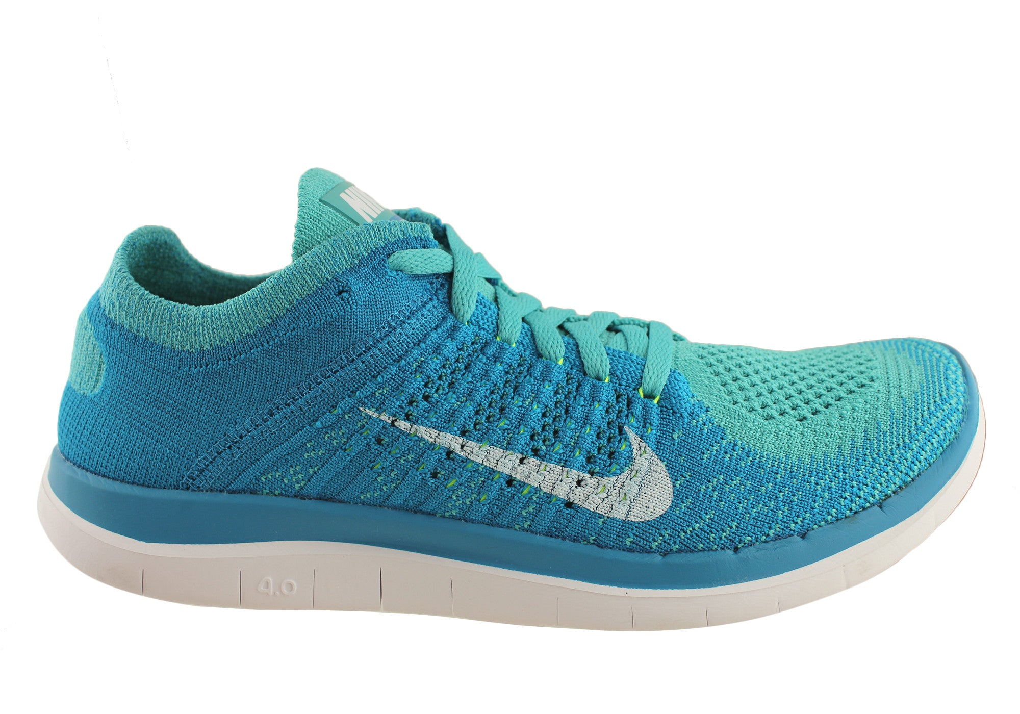 info for 2301b 05885 Home Nike Free Flyknit 4.0 Womens Lightweight Running Shoes. Turquoise  ...