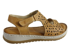 Orizonte Essence Womens European Leather Comfortable Cushioned Sandals