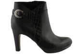 Naturalizer Illy Womens Leather Medium Heel Ankle Boots
