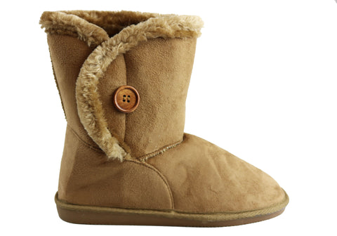 Bellissimo Erin Womens Warm Fleece Lined Ankle Boots