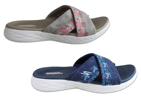 9a84f5c1dcd38 Skechers Womens On The Go 600 Monarch Cushioned Slide Sandals ...