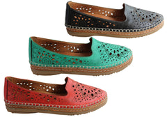 Orizonte Sunny Womens European Comfortable Soft Leather Flat Shoes