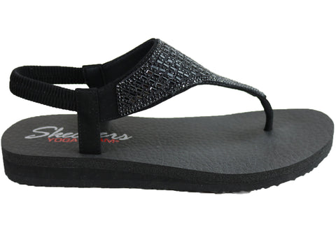 Skechers Womens Meditation Rock Crown Cushioned Comfortable Sandals