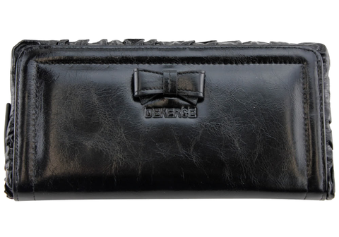 Dekerce Plush Frill Womens Leather Wallet