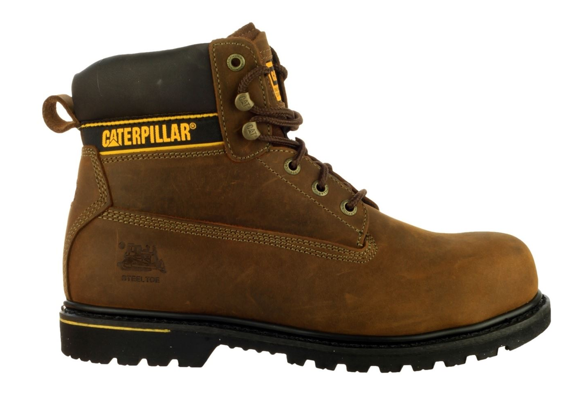 New Caterpillar Cat Holton Non Steel Toe Mens Work Boots