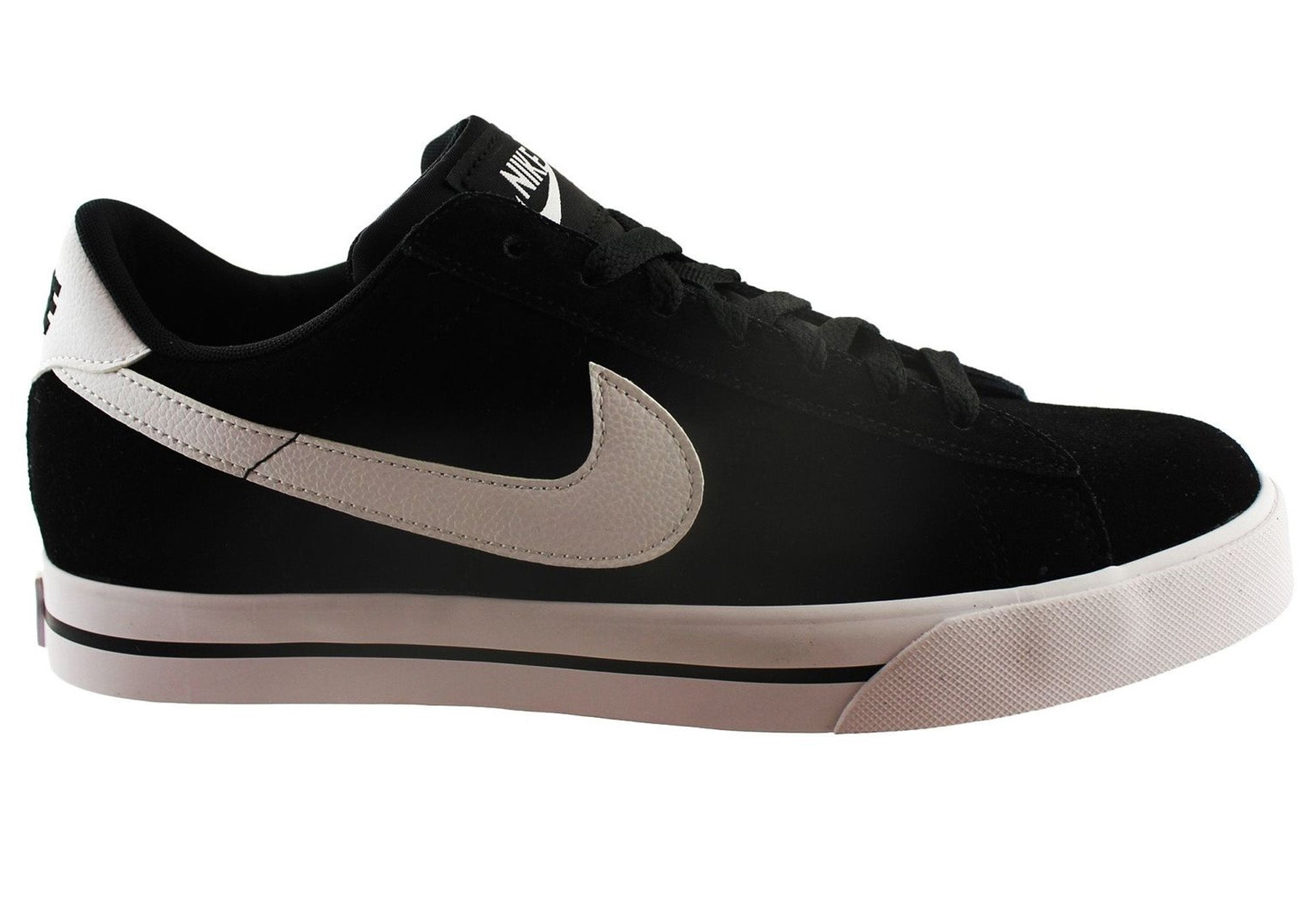 premium selection 1839a cb846 Home Nike Mens Sweet Classic Leather Lace Up Casual Shoes. Black White