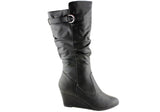 Isabella Brown Felix Womens Wedge Heel Boots