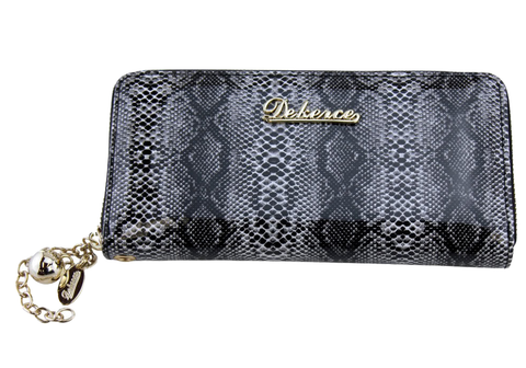 Dekerce Snake Print Womens Leather Wallet