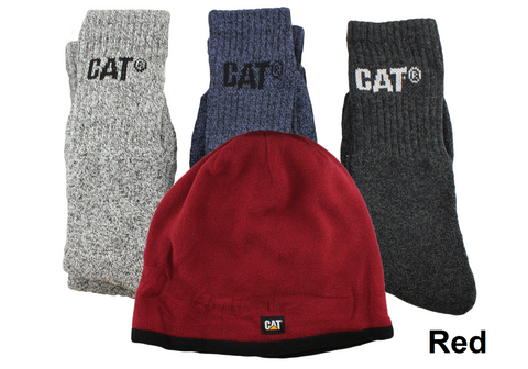 Caterpillar CAT Mens Beanie & Sock Bundle