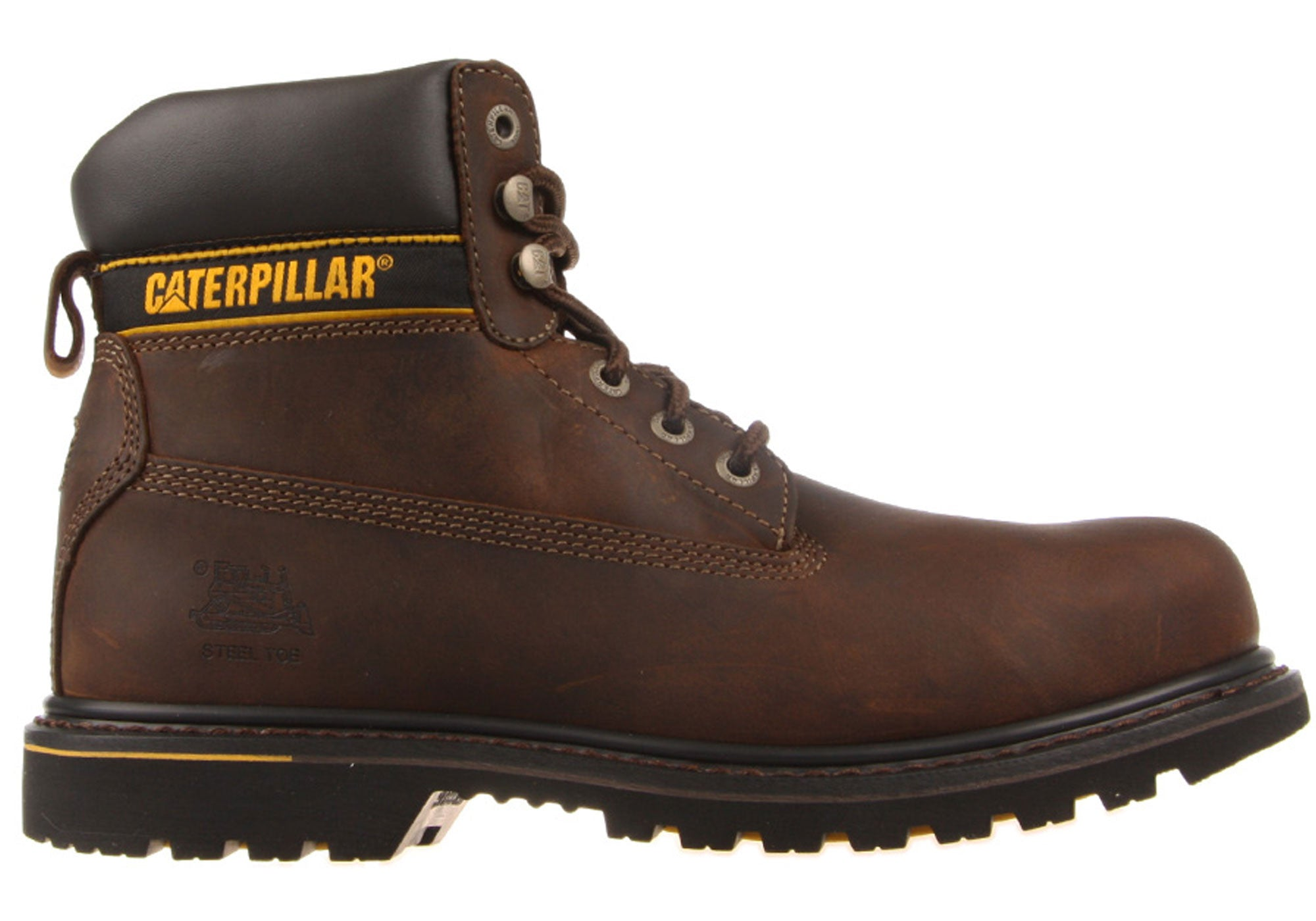 b28805b2fb6 Caterpillar CAT Holton Steel Toe Mens Work Boots