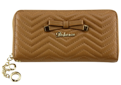 Dekerce Plush Bow Womens Leather Wallet