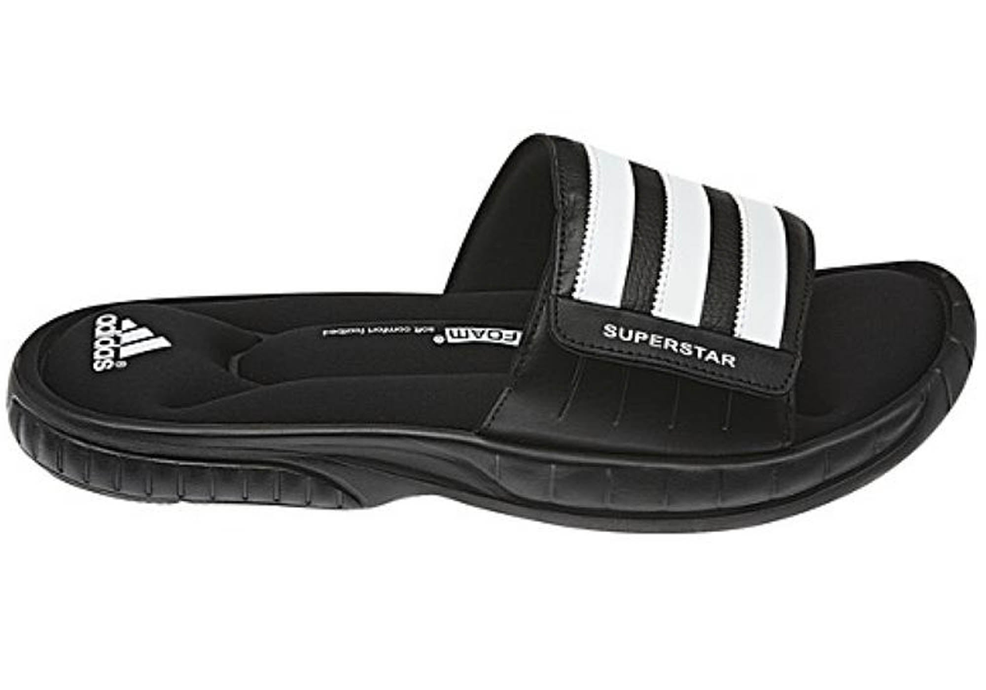 eada4bb0b460 Home Adidas Mens Comfortable Superstar 3G Slide Cushioned Sports Sandals.  Black