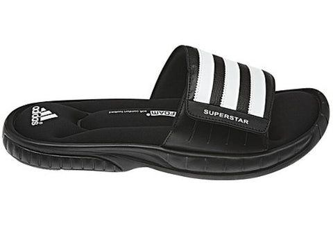 Adidas Mens Comfortable Superstar 3G Slide Cushioned Sports Sandals