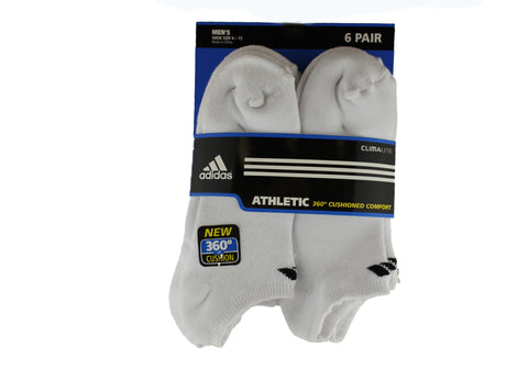 Adidas Mens Athletic 360 Cushioned Comfort Socks 6 Pack