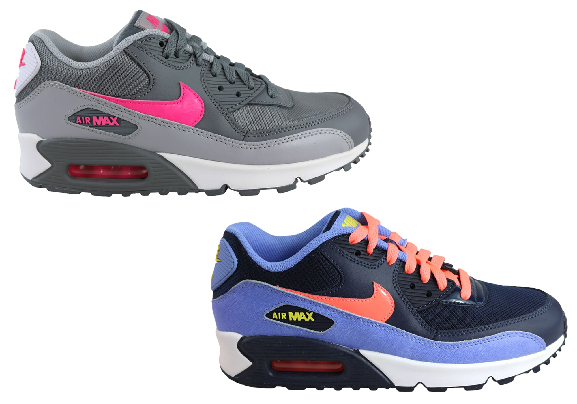 5c434fe0b6a0 NEW NIKE AIR MAX 90 (GS) OLDER KIDS GIRLS TRAINERS SPORT SHOES